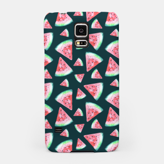 Imagen en miniatura de Watermelon Pattern-Dark Green and Coral Samsung Case, Live Heroes
