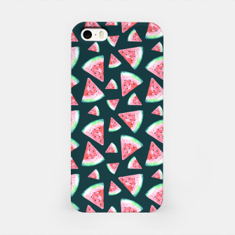 Imagen en miniatura de Watermelon Pattern-Dark Green and Coral iPhone Case, Live Heroes