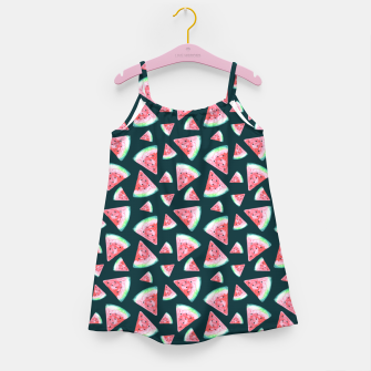 Imagen en miniatura de Watermelon Pattern-Dark Green and Coral Girl's dress, Live Heroes