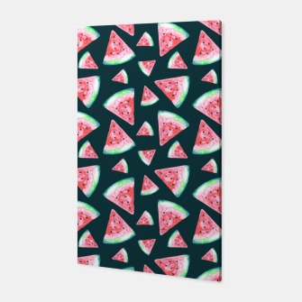 Imagen en miniatura de Watermelon Pattern-Dark Green and Coral Canvas, Live Heroes