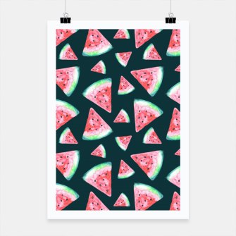 Imagen en miniatura de Watermelon Pattern-Dark Green and Coral Poster, Live Heroes