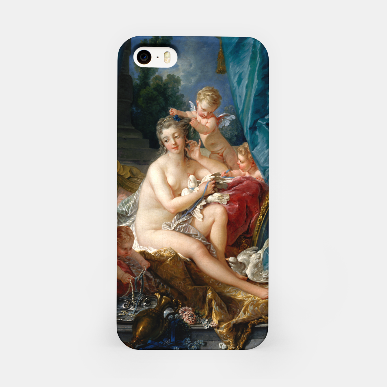Image of The Toilet of Venus by François Boucher iPhone Case - Live Heroes