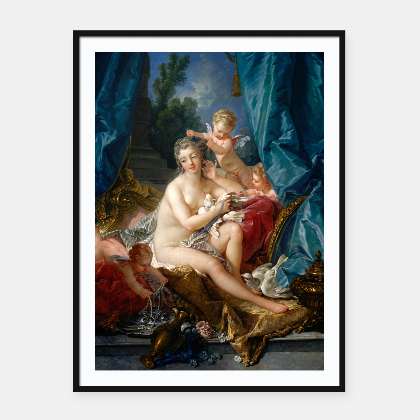 Image of The Toilet of Venus by François Boucher Framed poster - Live Heroes