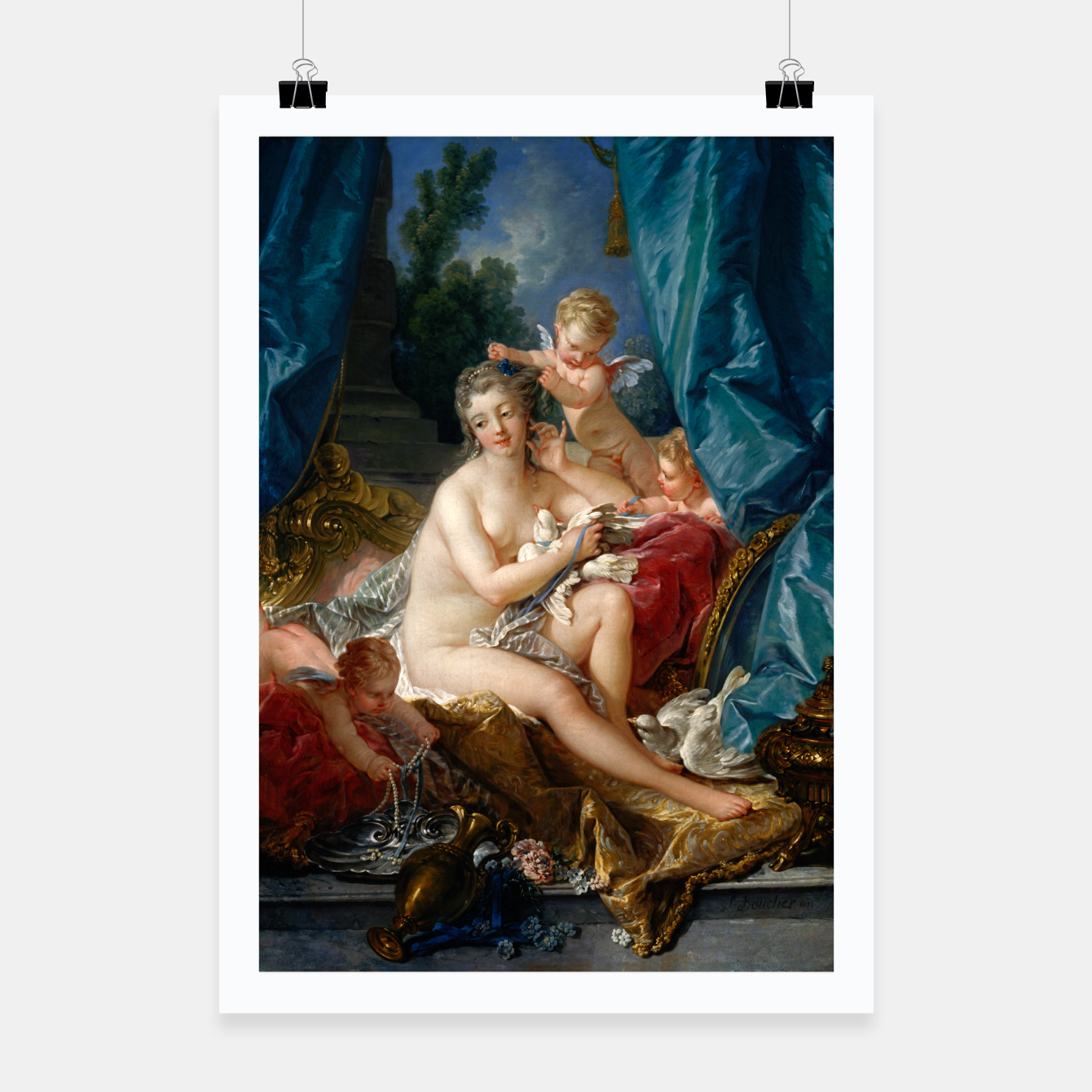 Image of The Toilet of Venus by François Boucher Poster - Live Heroes