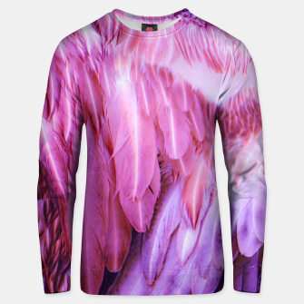 Miniatur Feathers - shades of purple Unisex sweatshirt, Live Heroes