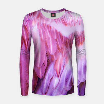 Miniatur Feathers - shades of purple Frauen sweatshirt, Live Heroes
