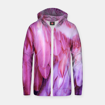 Thumbnail image of Feathers - shades of purple Reißverschluss kapuzenpullover, Live Heroes