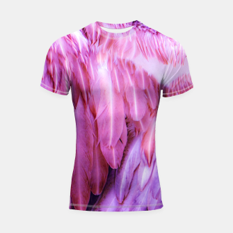 Miniatur Feathers - shades of purple Shortsleeve rashguard, Live Heroes
