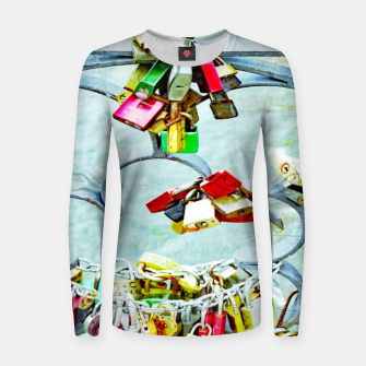 Thumbnail image of Love locks Frauen sweatshirt, Live Heroes
