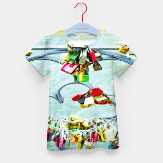 Thumbnail image of Love locks T-Shirt für kinder, Live Heroes