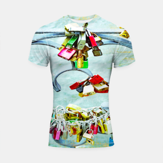 Thumbnail image of Love locks Shortsleeve rashguard, Live Heroes