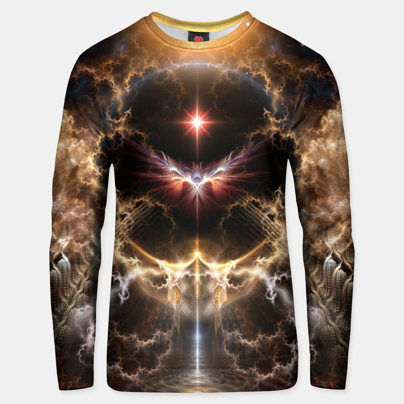 Image of Fire Of Heaven Fractal Art Composition Unisex sweater - Live Heroes