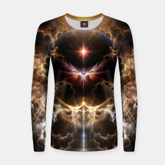 Thumbnail image of Fire Of Heaven Fractal Art Composition Women sweater, Live Heroes