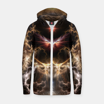 Thumbnail image of Fire Of Heaven Fractal Art Composition Zip up hoodie, Live Heroes