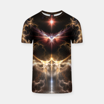 Thumbnail image of Fire Of Heaven Fractal Art Composition T-shirt, Live Heroes