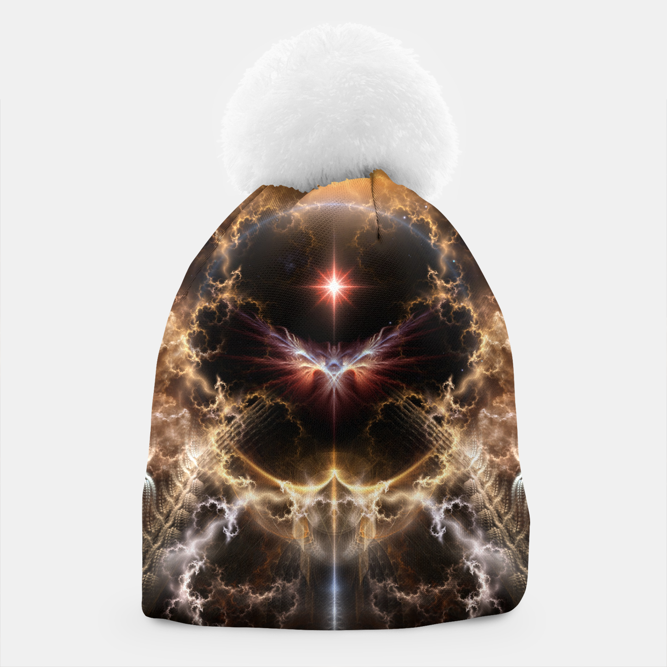 Image of Fire Of Heaven Fractal Art Composition Beanie - Live Heroes