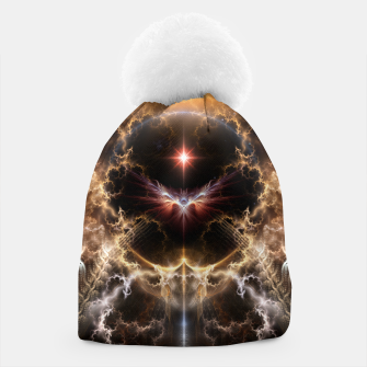 Thumbnail image of Fire Of Heaven Fractal Art Composition Beanie, Live Heroes
