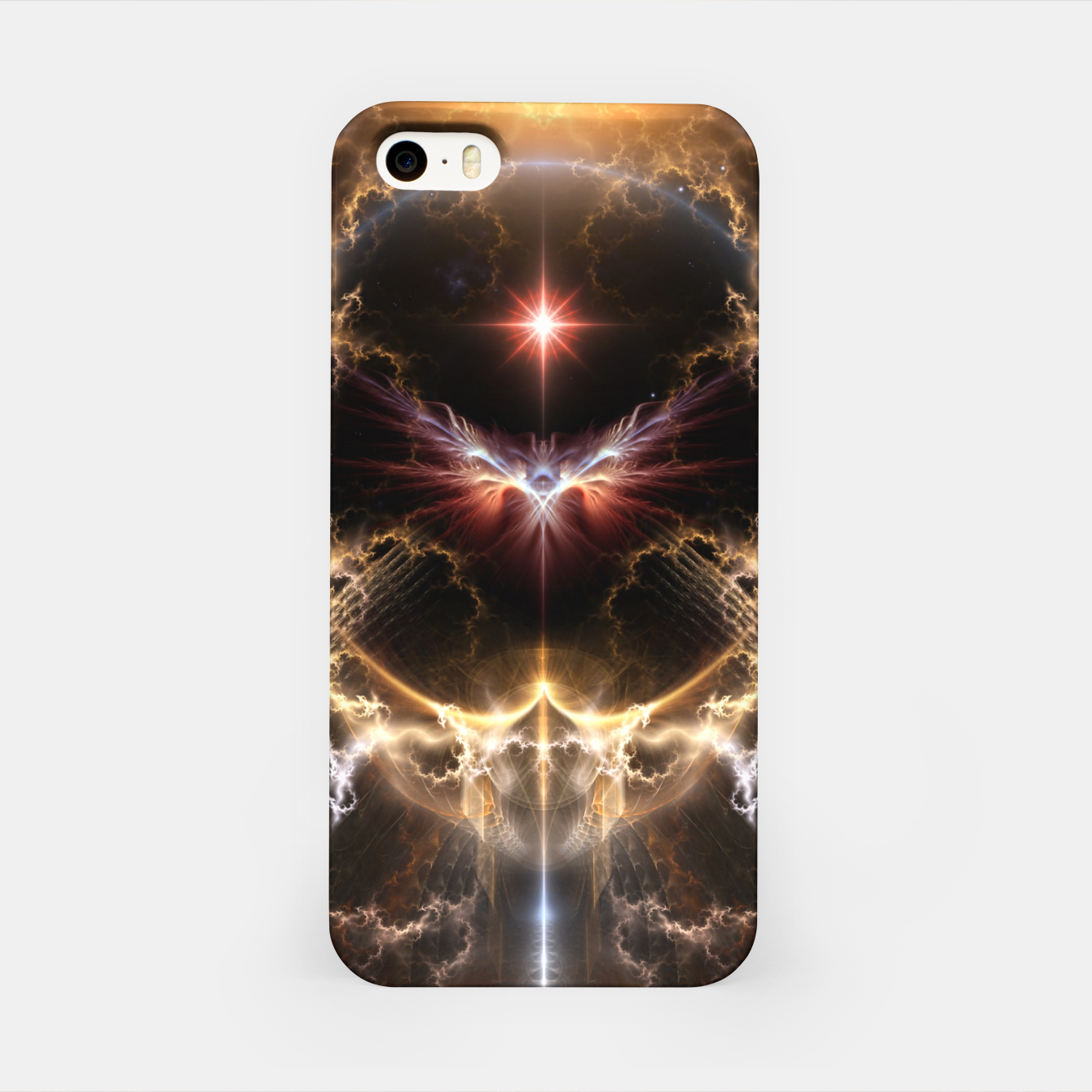 Image of Fire Of Heaven Fractal Art Composition iPhone Case - Live Heroes