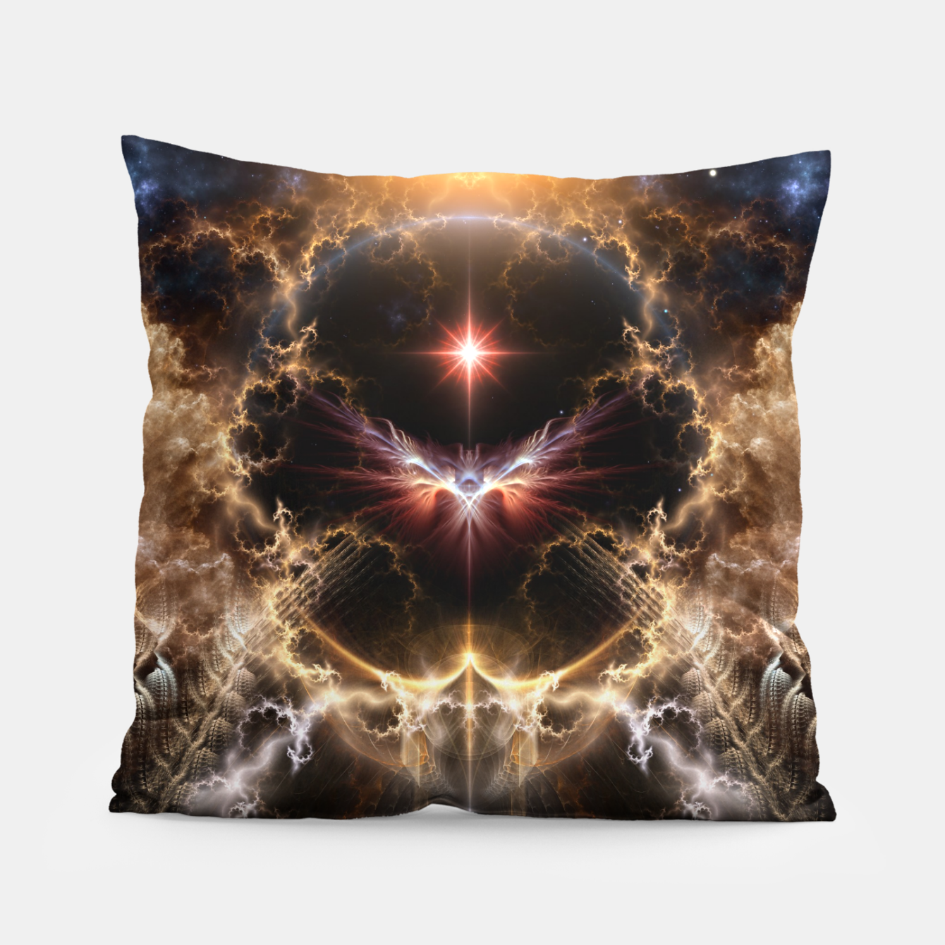 Image of Fire Of Heaven Fractal Art Composition Pillow - Live Heroes