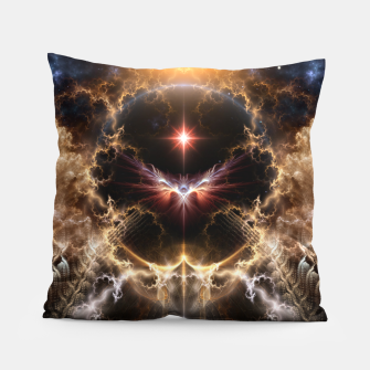 Thumbnail image of Fire Of Heaven Fractal Art Composition Pillow, Live Heroes