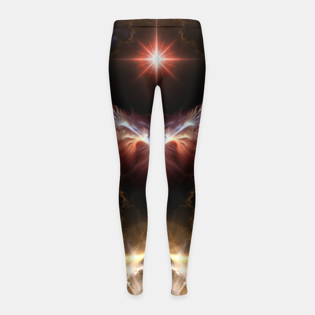 Image of Fire Of Heaven Fractal Art Composition Girl's leggings - Live Heroes