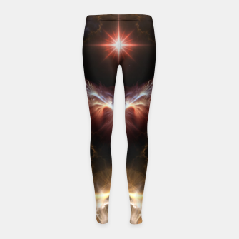 Fire Of Heaven Fractal Art Composition Girl's leggings thumbnail image