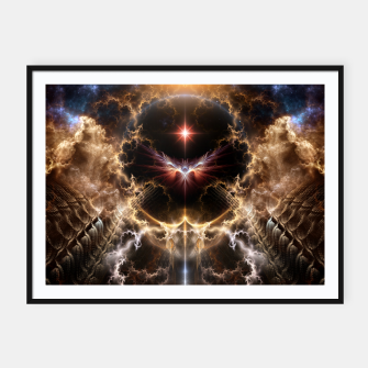 Thumbnail image of Fire Of Heaven Fractal Art Composition Framed poster, Live Heroes