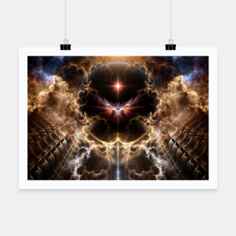 Thumbnail image of Fire Of Heaven Fractal Art Composition Poster, Live Heroes