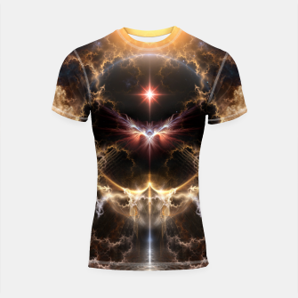Thumbnail image of Fire Of Heaven Fractal Art Composition Shortsleeve rashguard, Live Heroes