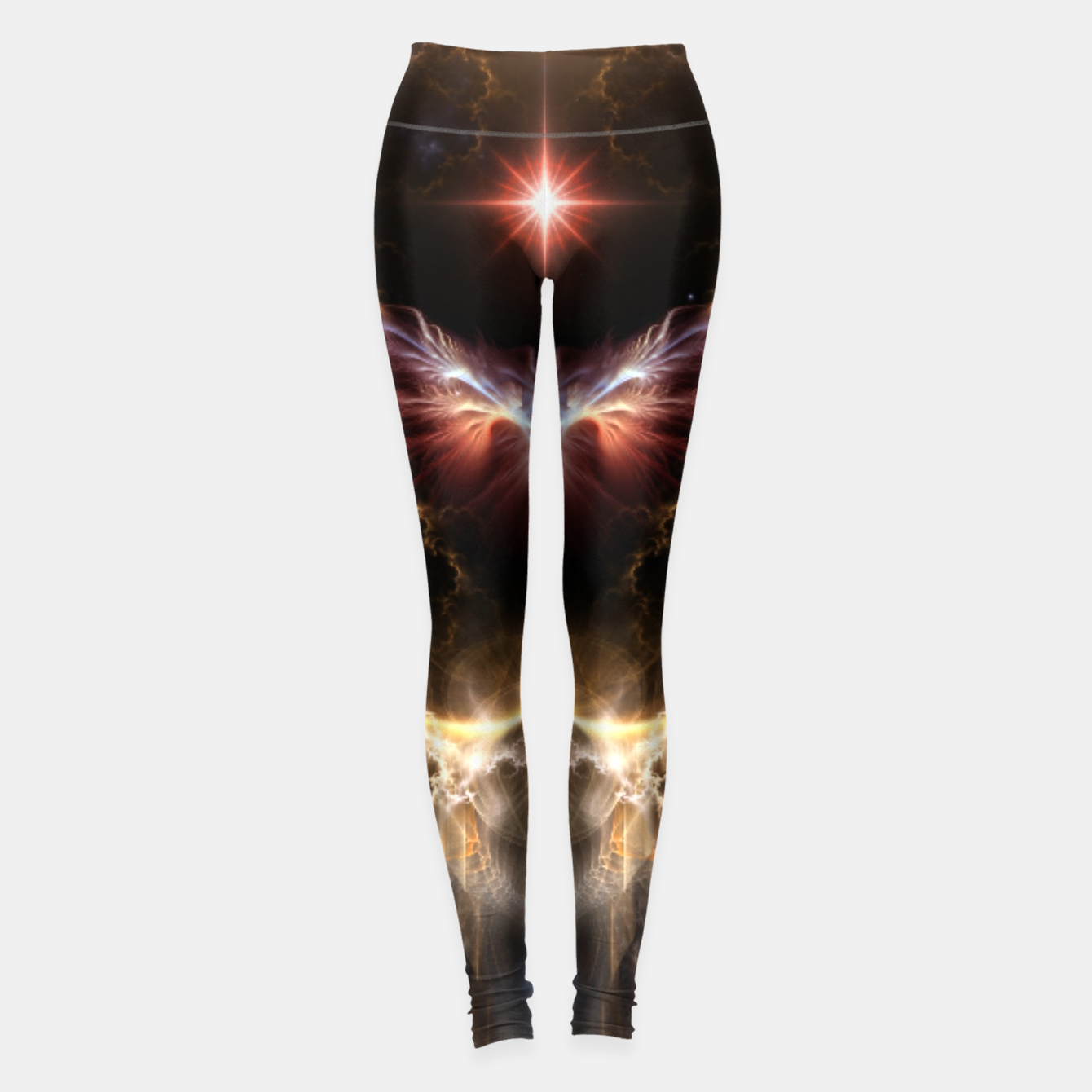Image of Fire Of Heaven Fractal Art Composition Leggings - Live Heroes