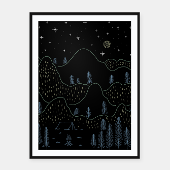 Thumbnail image of Peaceful Framed poster, Live Heroes