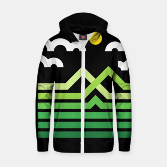 Thumbnail image of Mountain Zip up hoodie, Live Heroes