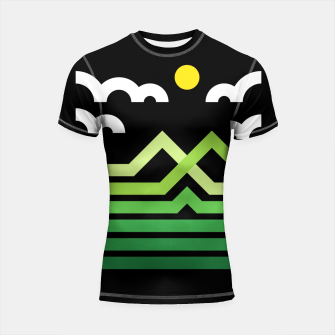 Thumbnail image of Mountain Shortsleeve rashguard, Live Heroes
