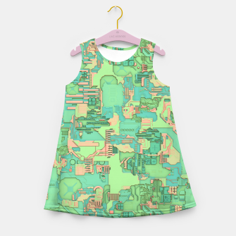 Miniature de image de Geek Texture Girl's summer dress, Live Heroes