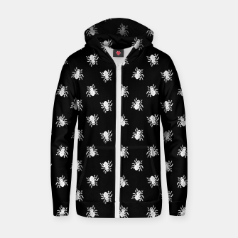 Thumbnail image of Spider Sketchy Style Drawing Pattern Zip up hoodie, Live Heroes