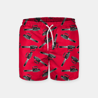 Thumbnail image of Chainsaw Swim Shorts, Live Heroes
