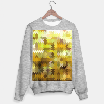 geometric square pixel pattern abstract in yellow and brown Sweater regular thumbnail image