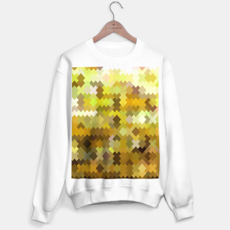 Miniature de image de geometric square pixel pattern abstract in yellow and brown Sweater regular, Live Heroes