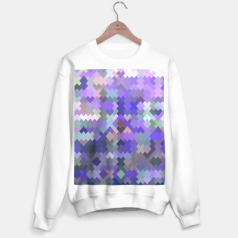 Thumbnail image of geometric square pixel pattern abstract in purple and pink Sweater regular, Live Heroes