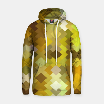 Miniature de image de geometric square pixel pattern abstract in yellow and brown Hoodie, Live Heroes