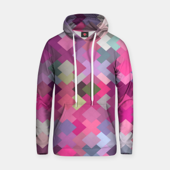 Miniature de image de geometric square pixel pattern abstract in pink and purple Hoodie, Live Heroes