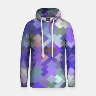Miniature de image de geometric square pixel pattern abstract in purple and pink Hoodie, Live Heroes