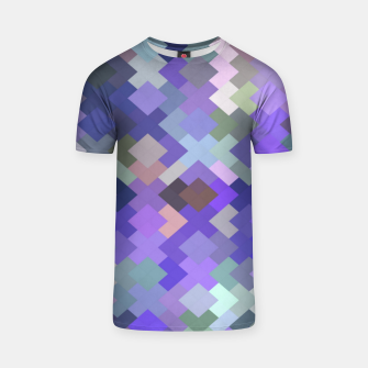 Miniature de image de geometric square pixel pattern abstract in purple and pink T-shirt, Live Heroes