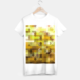 Miniature de image de geometric square pixel pattern abstract in yellow and brown T-shirt regular, Live Heroes