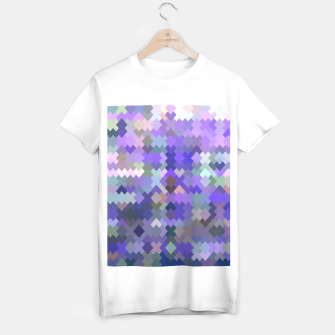 Thumbnail image of geometric square pixel pattern abstract in purple and pink T-shirt regular, Live Heroes