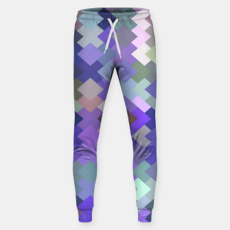Thumbnail image of geometric square pixel pattern abstract in purple and pink Sweatpants, Live Heroes