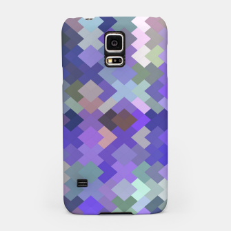Thumbnail image of geometric square pixel pattern abstract in purple and pink Samsung Case, Live Heroes