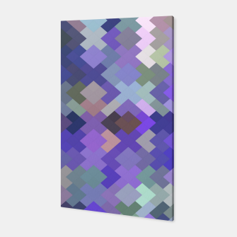 Thumbnail image of geometric square pixel pattern abstract in purple and pink Canvas, Live Heroes