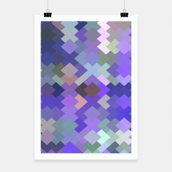 Thumbnail image of geometric square pixel pattern abstract in purple and pink Poster, Live Heroes