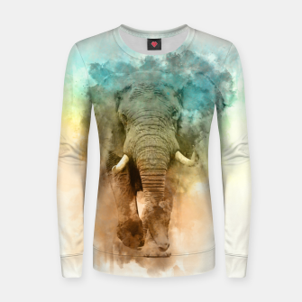 Thumbnail image of Wild Elephant Women sweater, Live Heroes